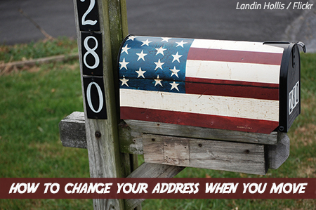 How To Change Address When Moving In 2020 Change Of Address Checklist