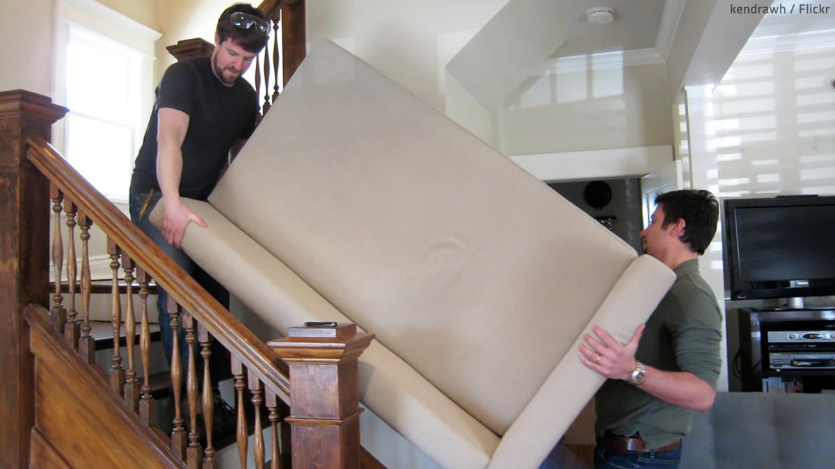 How to Move Heavy Furniture Up Stairs